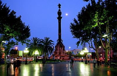 Barcelona El Monumento a Colón
