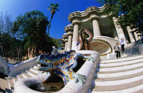 El parque g ell un retazo del estilo gaudiniano gu a de for Barcelona jardin gaudi