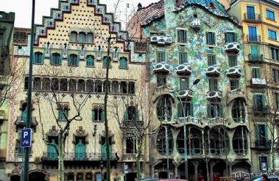 Barcelona casas de la Manzana de la Discordia