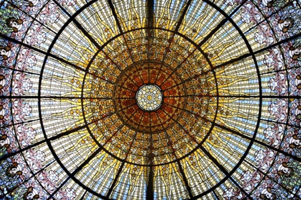 techo cristalera del museu del modernisme catala